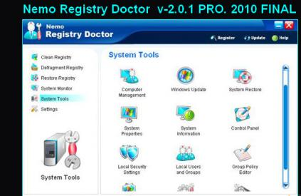 Nemo Registry Doctor v2.0.1 PRO. Final-2010.